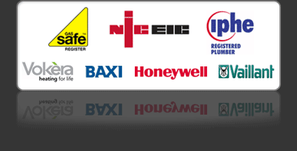 Gas Safe Register, Worcester Bosch Group, IPHE Registered Plumber, BAXI, VALLIANT, VOKERA & HONEYWELL